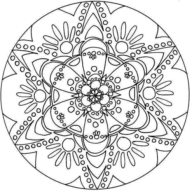 Coloriage Gratuit Imprimer Mandala.Mandala Fleur Etoilee Mandalas Sur Le Theme Des Fleurs Et