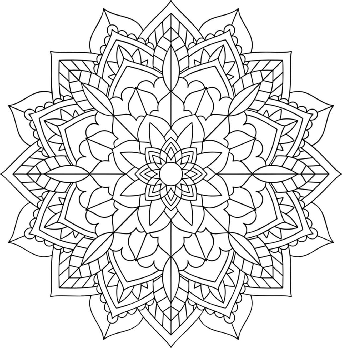 Un mandala pour petits et grands, composé de motifs végétaux, parfait pour se relaxer, déstresser, tout en exprimant son sens créatif.