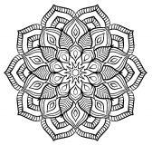 Un mandala fleuri au style très particulier