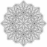 Mandala avec fleurs et feuilles   9