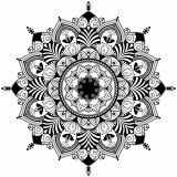 Mandala Zentangle noir & blanc