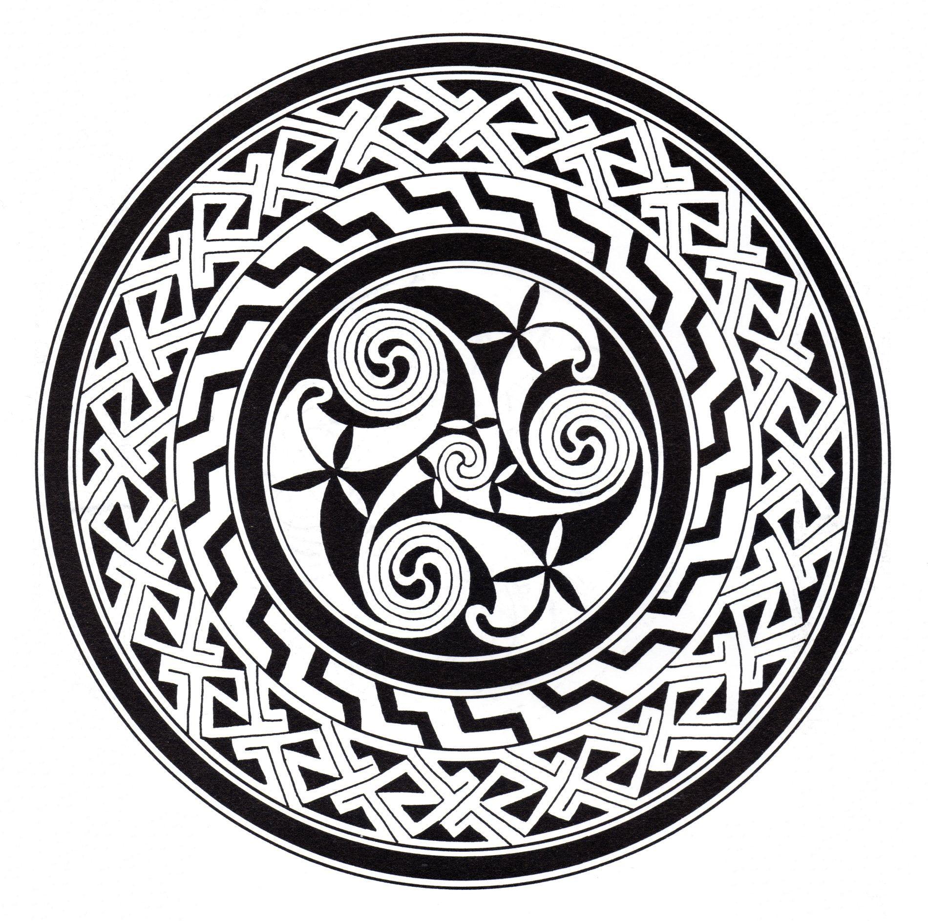Coloriage Anti Stress Celtique.Mandala Art Celtique 13 Mandalas Avec Motifs Geometriques