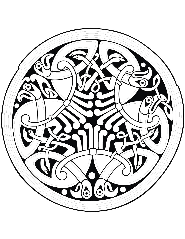 Coloriage Anti Stress Celtique.Mandala Art Celtique 22 Mandalas Avec Motifs Geometriques