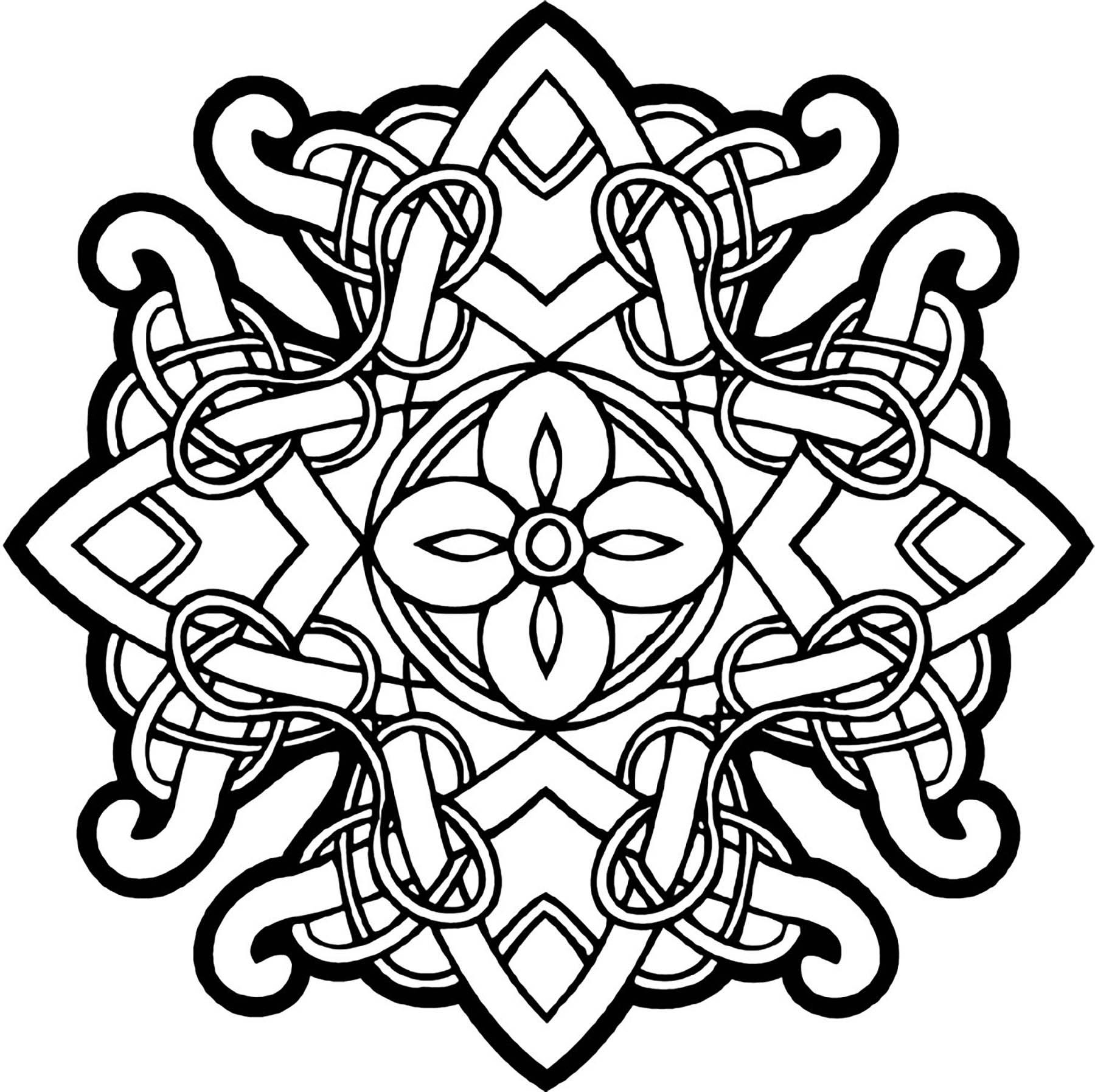 Coloriage Anti Stress Celtique.Mandala Art Celtique 26 Mandalas Avec Motifs Geometriques