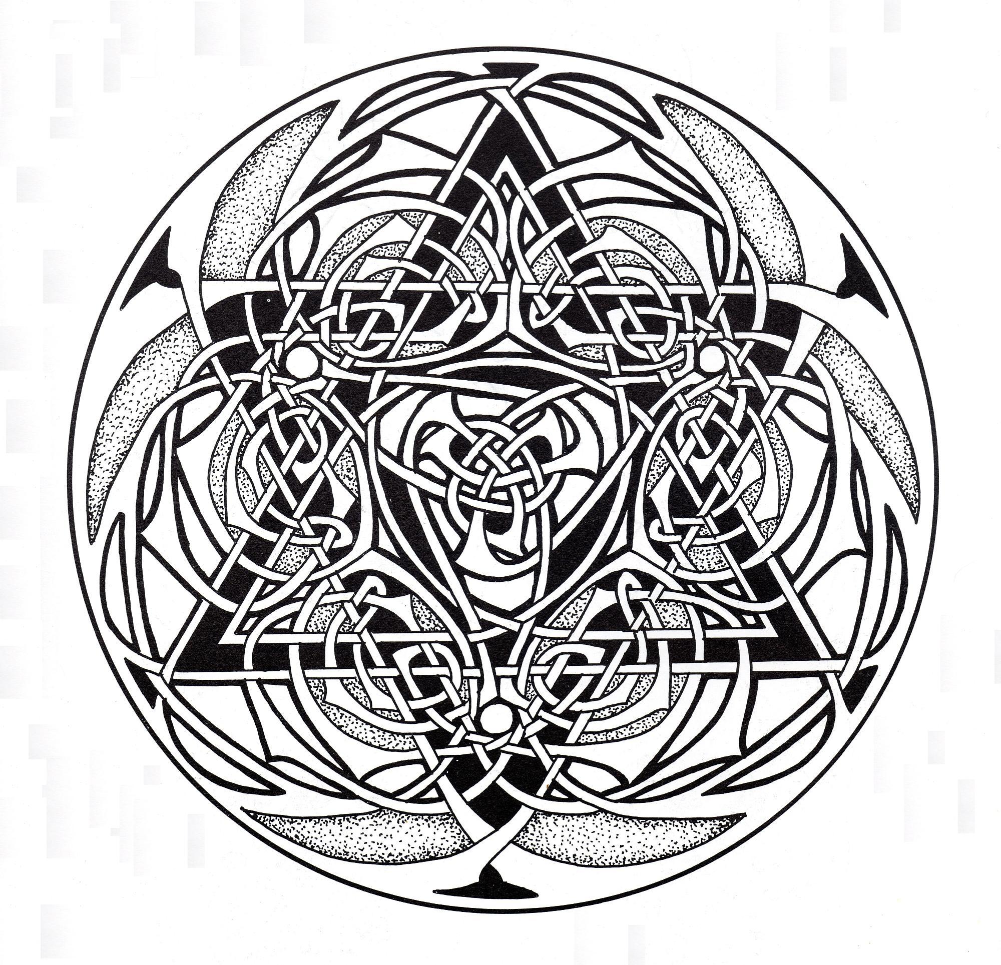 Coloriage Anti Stress Celtique.Mandala Art Celtique 9 Mandalas Avec Motifs Geometriques