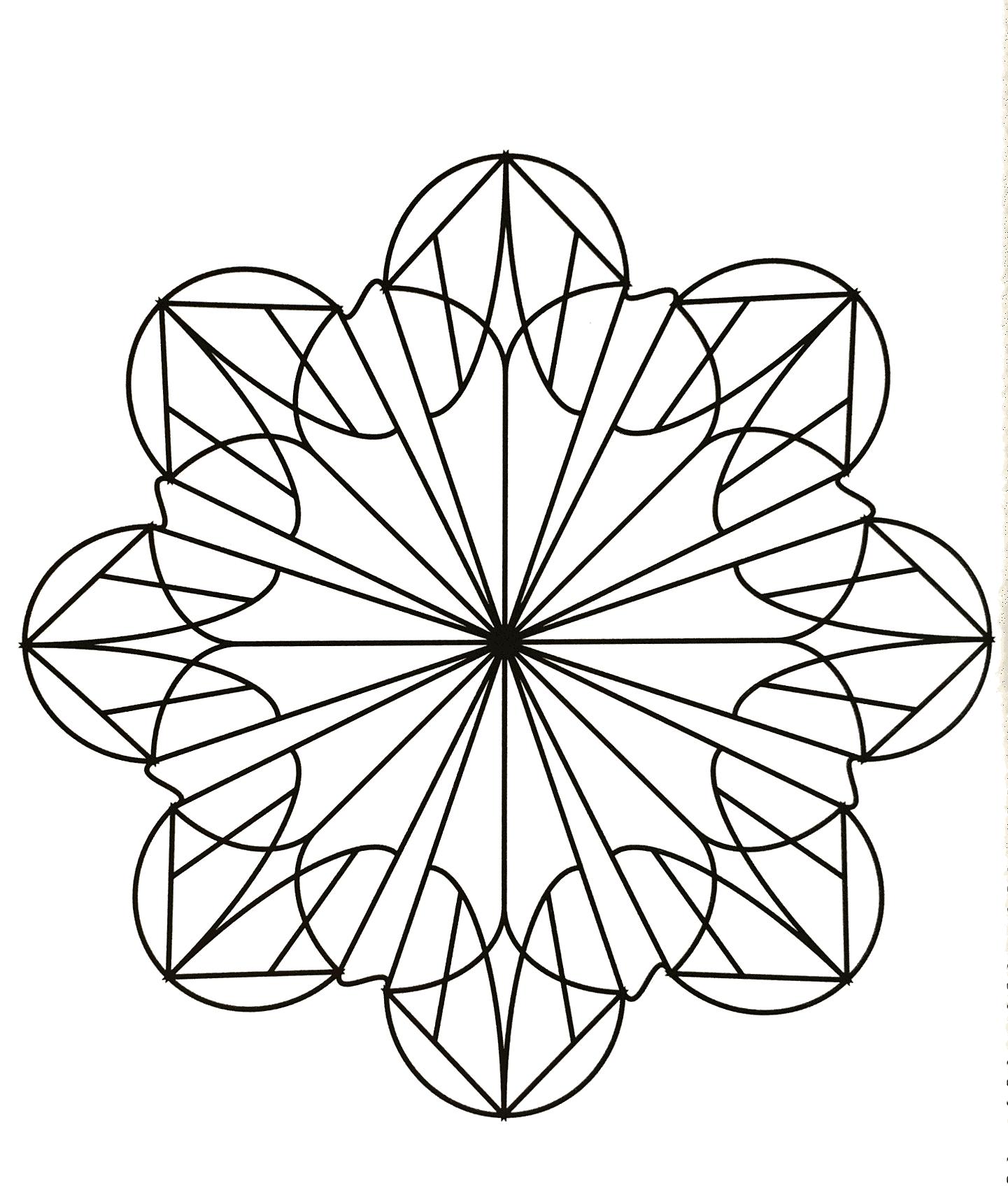 Mandala gratuit forme de fleur mandalas avec motifs g om triques 100 mandalas zen anti stress - Coloriage fleur geometrique ...