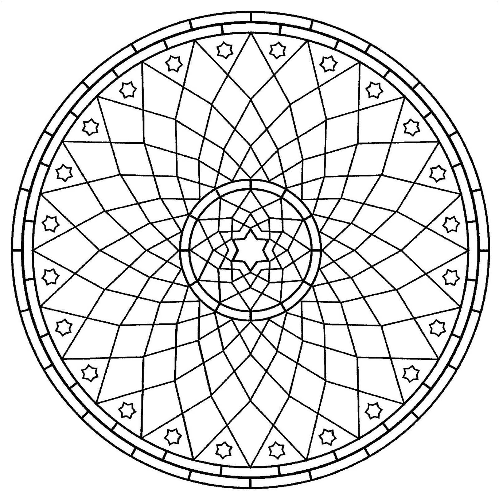 Mandala gratuit rosace mandalas avec motifs g om triques 100 mandalas zen anti stress - Coloriage de rosace ...