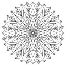 Mandalas avec motifs g om triques 100 mandalas zen - Mandala beau et difficile ...
