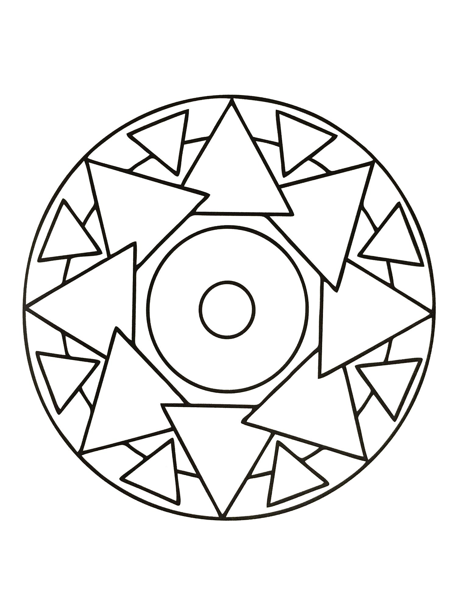 Mandalas a imprimer gratuit 22 mandalas avec motifs g om triques 100 mandalas zen anti stress - Coloriage fleur geometrique ...