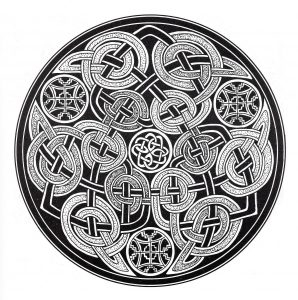 Coloriage mandala art celtique 11