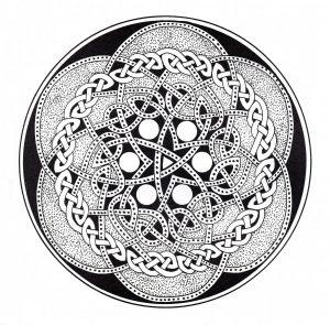 Coloriage mandala art celtique 12