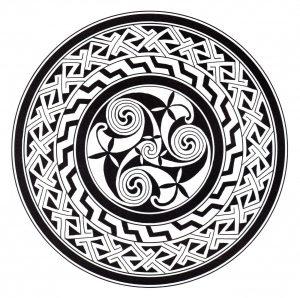 Coloriage mandala art celtique 13