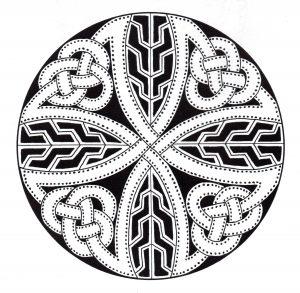 Coloriage mandala art celtique 14