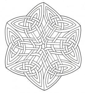 Coloriage mandala art celtique 15