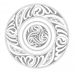Coloriage mandala art celtique 2