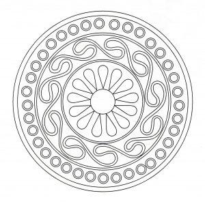Coloriage mandala art celtique 7