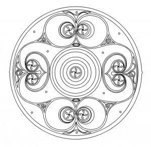 Coloriage mandala art celtique 8