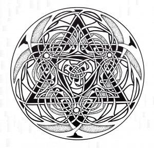 Coloriage mandala art celtique 9