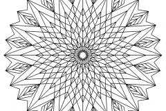 Mandala a colorier motifs geometriques (3)