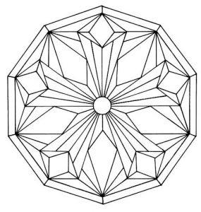 Mandala a colorier motifs geometriques (5)