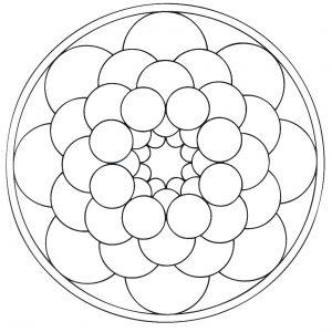 Mandala a colorier motifs geometriques (6)
