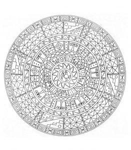 Mandala a colorier motifs geometriques (7)