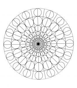 Mandala a colorier motifs geometriques (8)