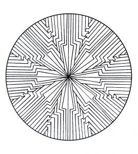 Mandala a colorier motifs geometriques (9)