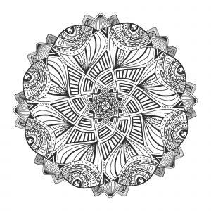 Mandala geometrique abstrait 1