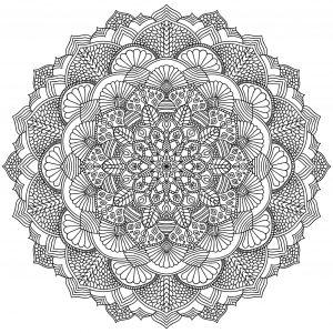 Mandala geometrique abstrait 2