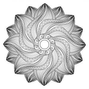 Mandala geometrique abstrait 3