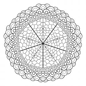 Mandala geometrique abstrait 5