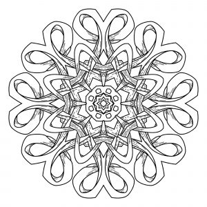 Mandala geometrique abstrait 6