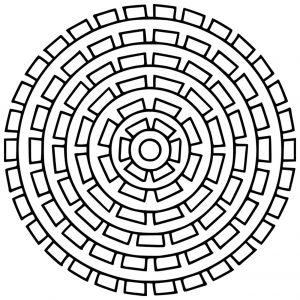 Mandala simple et géométrique