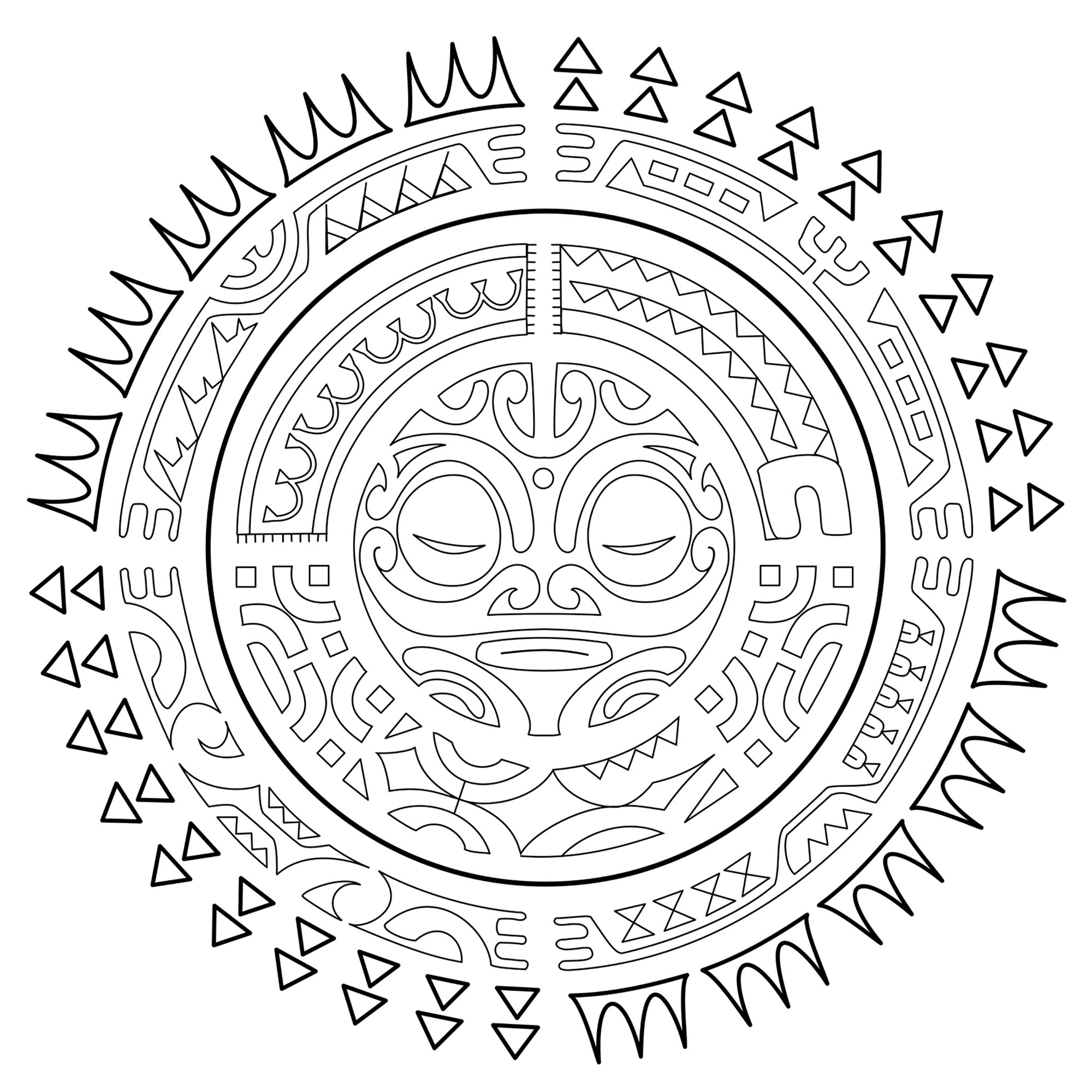 Tatouage Polynesien Le Soleil Inspiration Idees De Tatouages