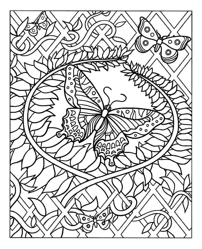 Plantes papillons | Coloriages d\'Insectes - 100% Mandalas Zen & Anti ...