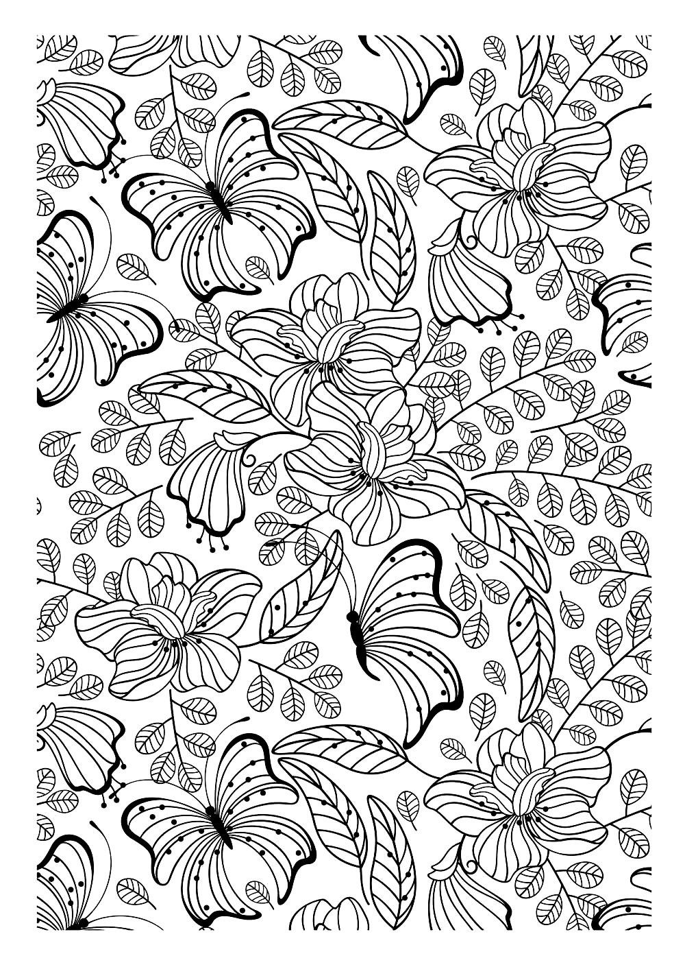 Nature Papillons Difficile Coloriages D Insectes 100 Mandalas Zen Anti Stress