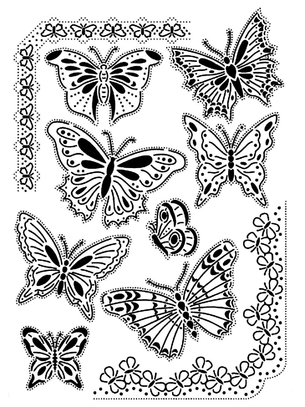 Vintage papillons adulte | Coloriages d\'Insectes - 100% Mandalas Zen ...
