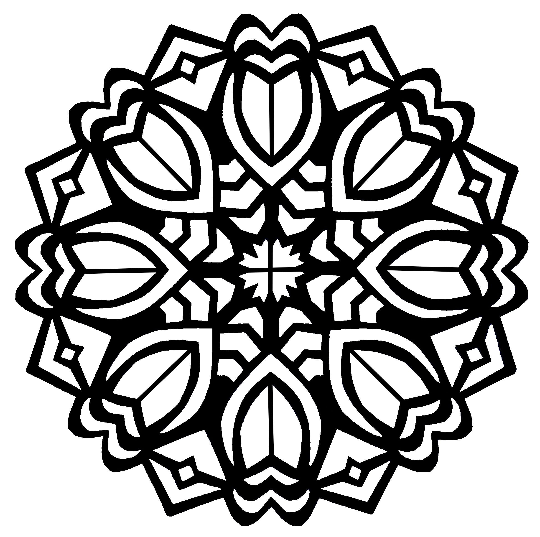 Fleurs art deco dans un mandala - Image avec : Art déco