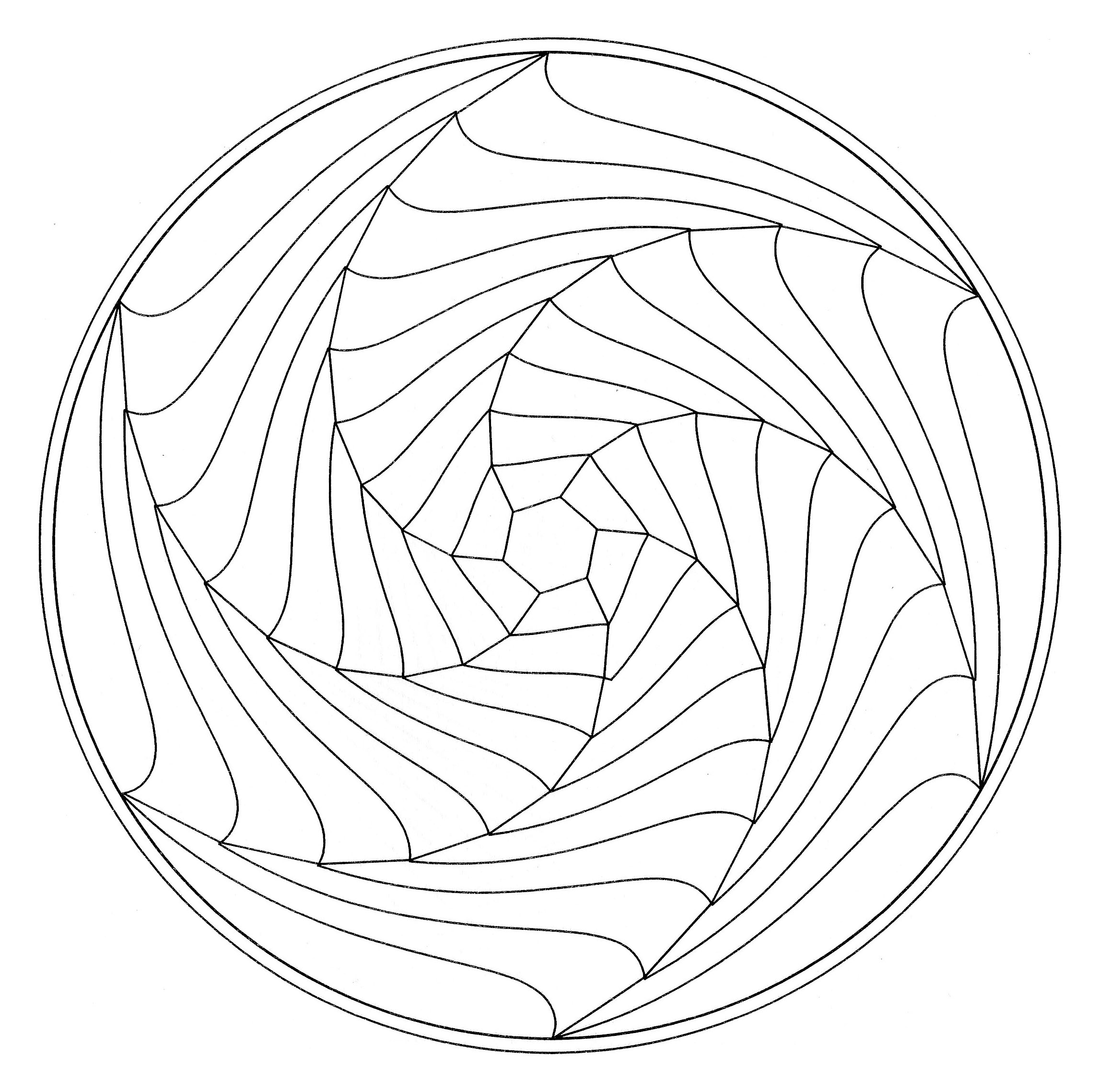 Coloriage Anti Stress Illusion Doptique.Illusion D Optique Mandalas De Difficulte Normale 100 Mandalas