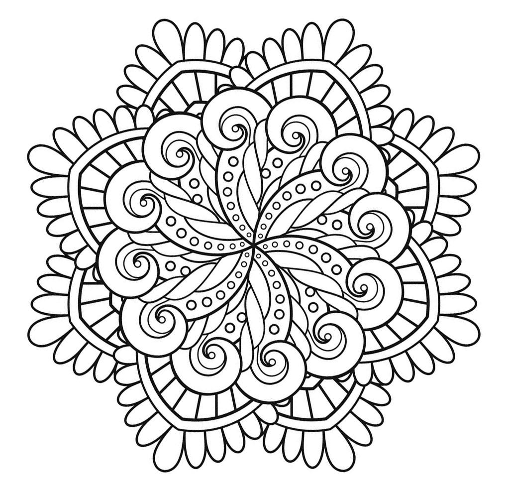 Mandala Fleurs Mandalas De Difficulté Normale 100 Mandalas Zen