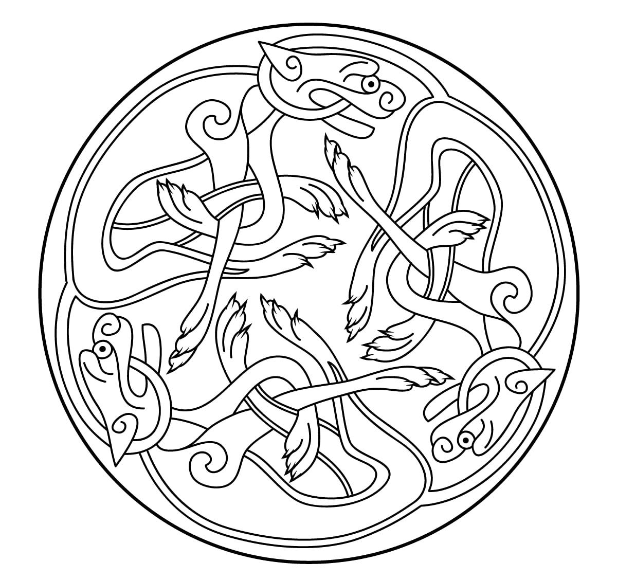 Mandala celtique 25 mandalas de difficult normale 100 - Shamrock foglio da colorare ...