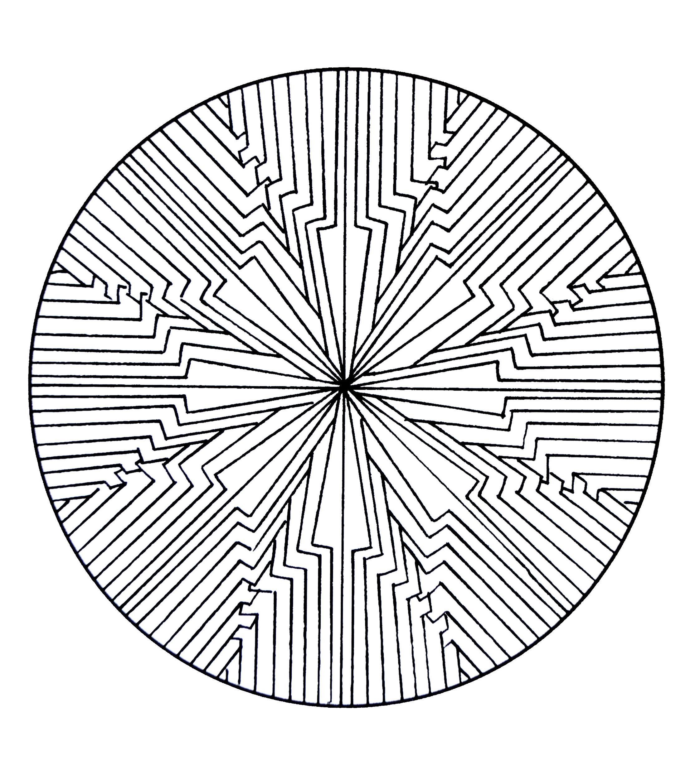 Mandala A Colorier Gratuit A Imprimer 11 Mandalas De Difficulté