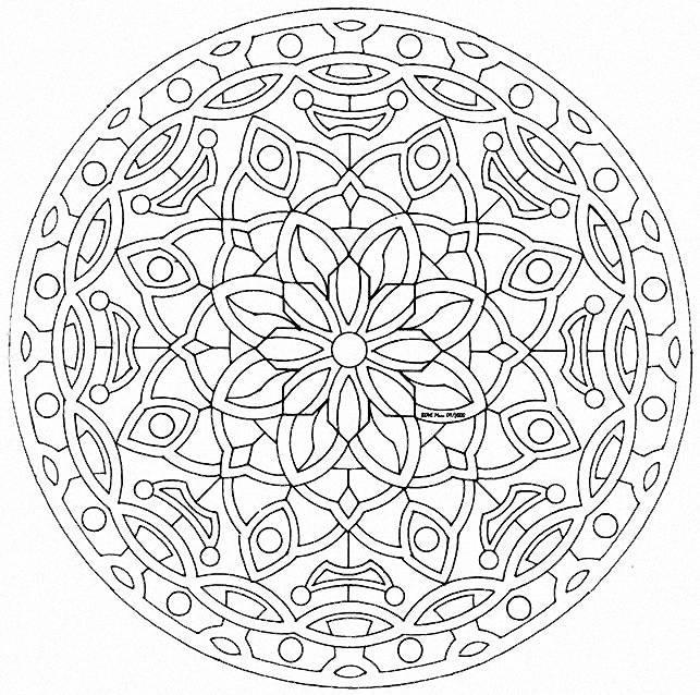 Mandala A Colorier Gratuit A Imprimer 22 Mandalas De Difficulte
