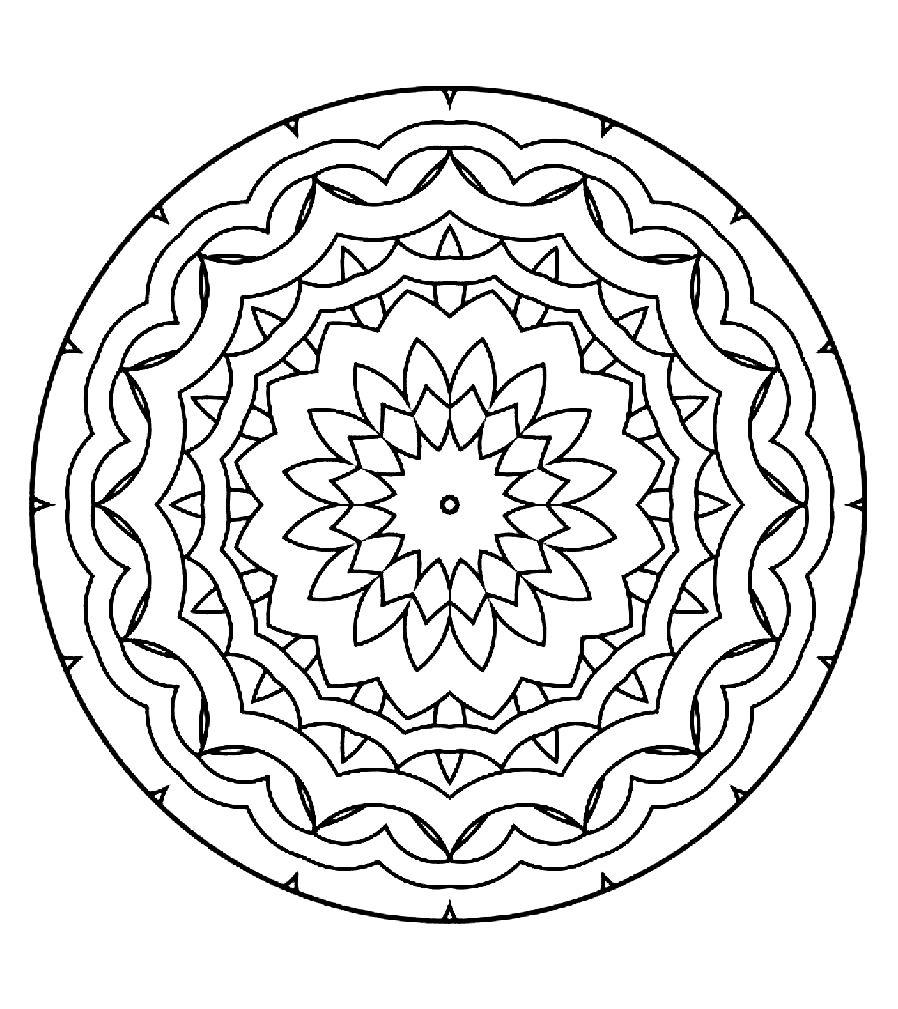 Dessus coloriage formes geometriques imprimer imprimer et obtenir une coloriage gratuit ici - Coloriage fleur geometrique ...