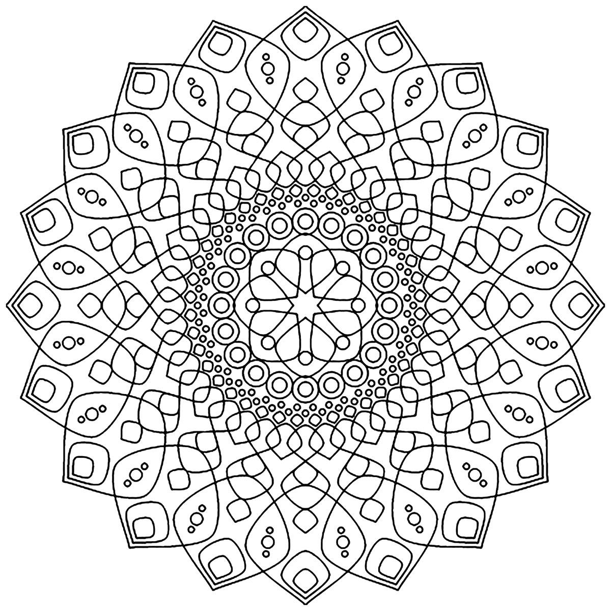 Mandala Apaisant Et Destressant Mandalas De Difficulte Normale 100 Mandalas Zen Anti Stress
