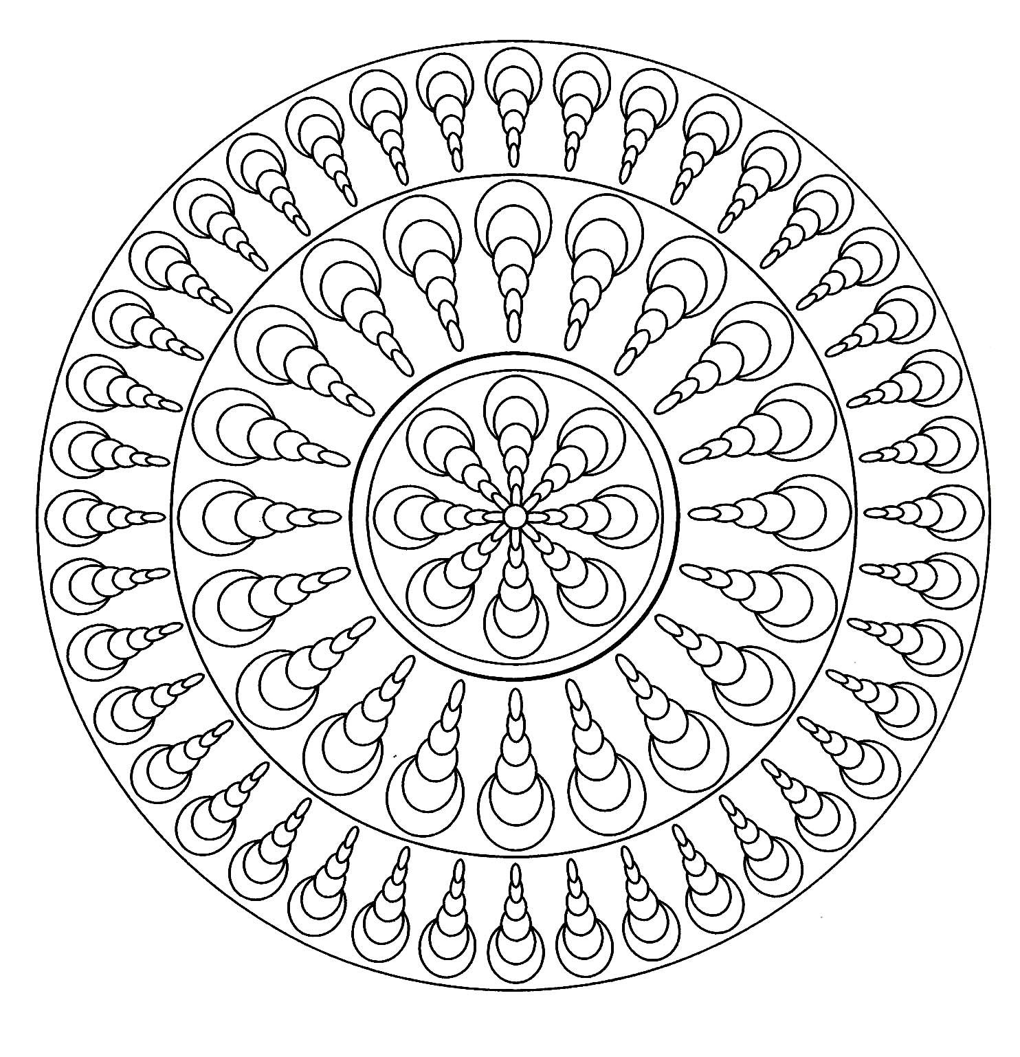 Mandala coquillages mandalas de difficult normale 100 mandalas zen anti stress - Mandala facile ...