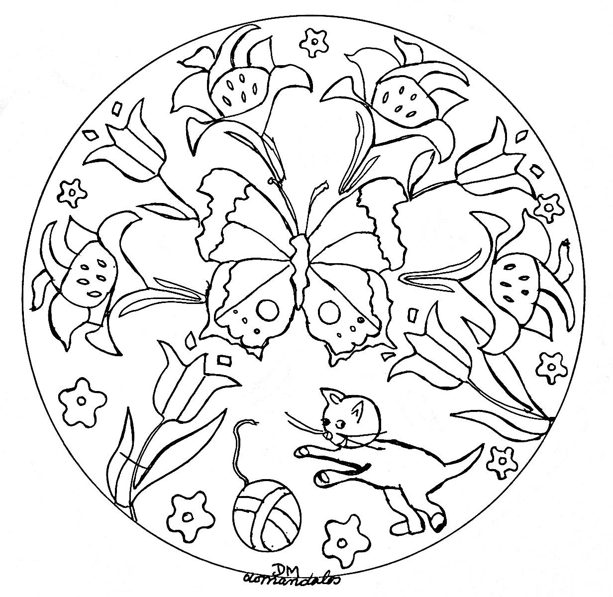 Mandala gratuit - Photo de fleur a imprimer ...