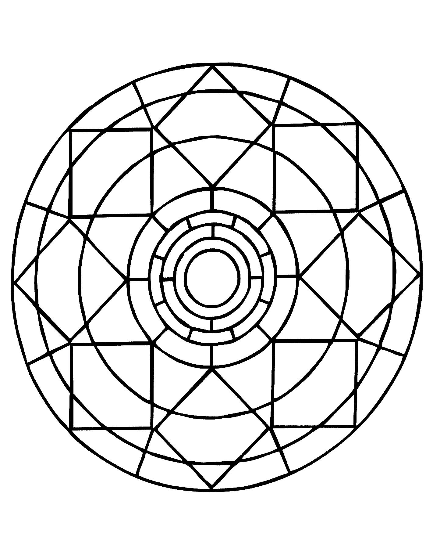 Mandalas a imprimer gratuit 20 - Mandalas de difficulté normale ...