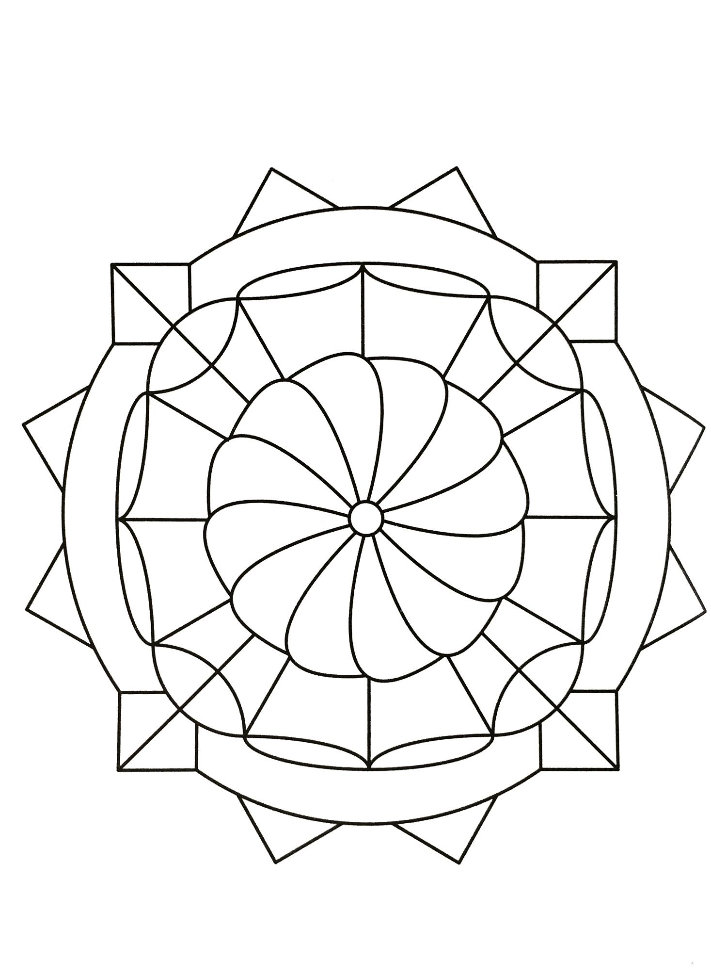 Coloriage Anti Stress Facile A Imprimer.Mandalas A Imprimer Gratuit 52 Mandalas De Difficulte